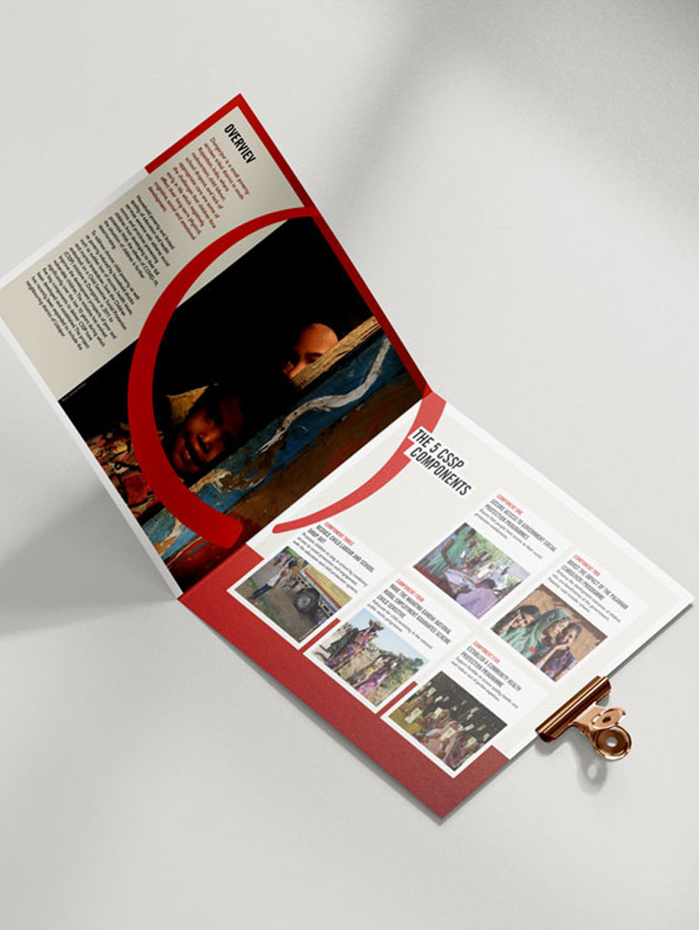 Exempel på broschyrer